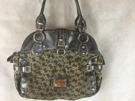 Guess Logo Shoulder Purse Large Handbag Brown & Tan  - $23.01