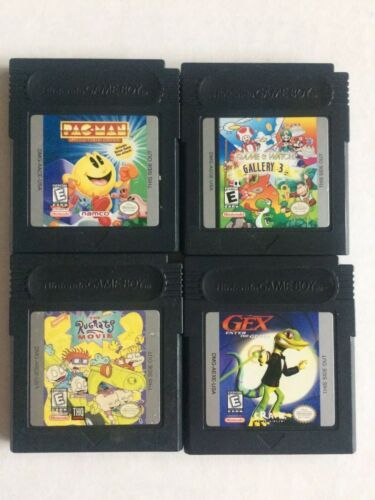Lot of 4 Nintendo Game Boy Color: PacMan, Gex, Rugrats Movie, Gallery 3