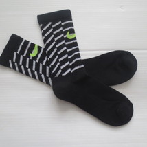 Nike Youth Performance Crew Socks - SX5815 - Black Stripe - Size M - NEW - $6.99