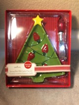 HALLMARK  SERVING DISH WITH LIGHTED SPREADER CHRISTMAS  TREE---FREE SHIP... - $19.53