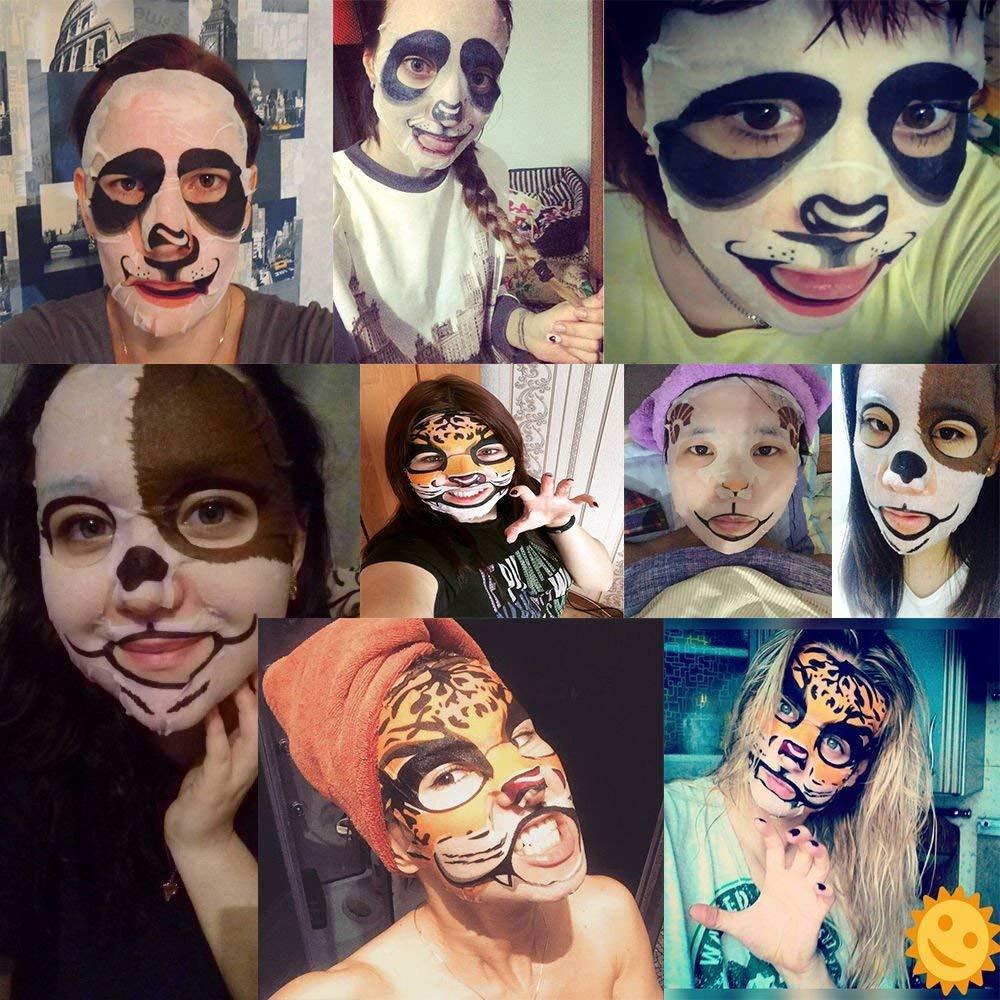Fun Animal Tiger Dog Sheep Panda Nourishing and Moisturizing Facial Mask