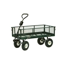 Garden Beautification Tool in Steel Drop Side Yard Cart Rust Resistant E... - $2.134,61 MXN