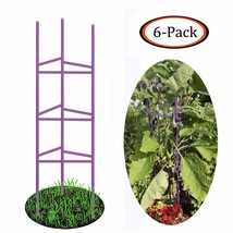 Growsun 5-ft Purple Tomato Supports Cage Plant Garden Stakes,6 Pack - €54,95 EUR