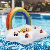 Summer Party Bucket Rainbow Cloud Cup Holder Inflatable Pool Float Beer ... - £11.60 GBP
