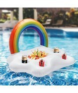Summer Party Bucket Rainbow Cloud Cup Holder Inflatable Pool Float Beer ... - £11.36 GBP