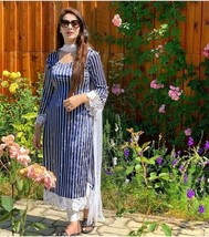 Designer Wedding Salwar Kameez Indian Pakistani Stitch Dress Shalwar Par... - $45.58