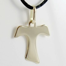18K YELLOW GOLD CROSS, FRANCISCAN TAU TAO, SAINT FRANCIS, 1 inches MADE ... - $79.00
