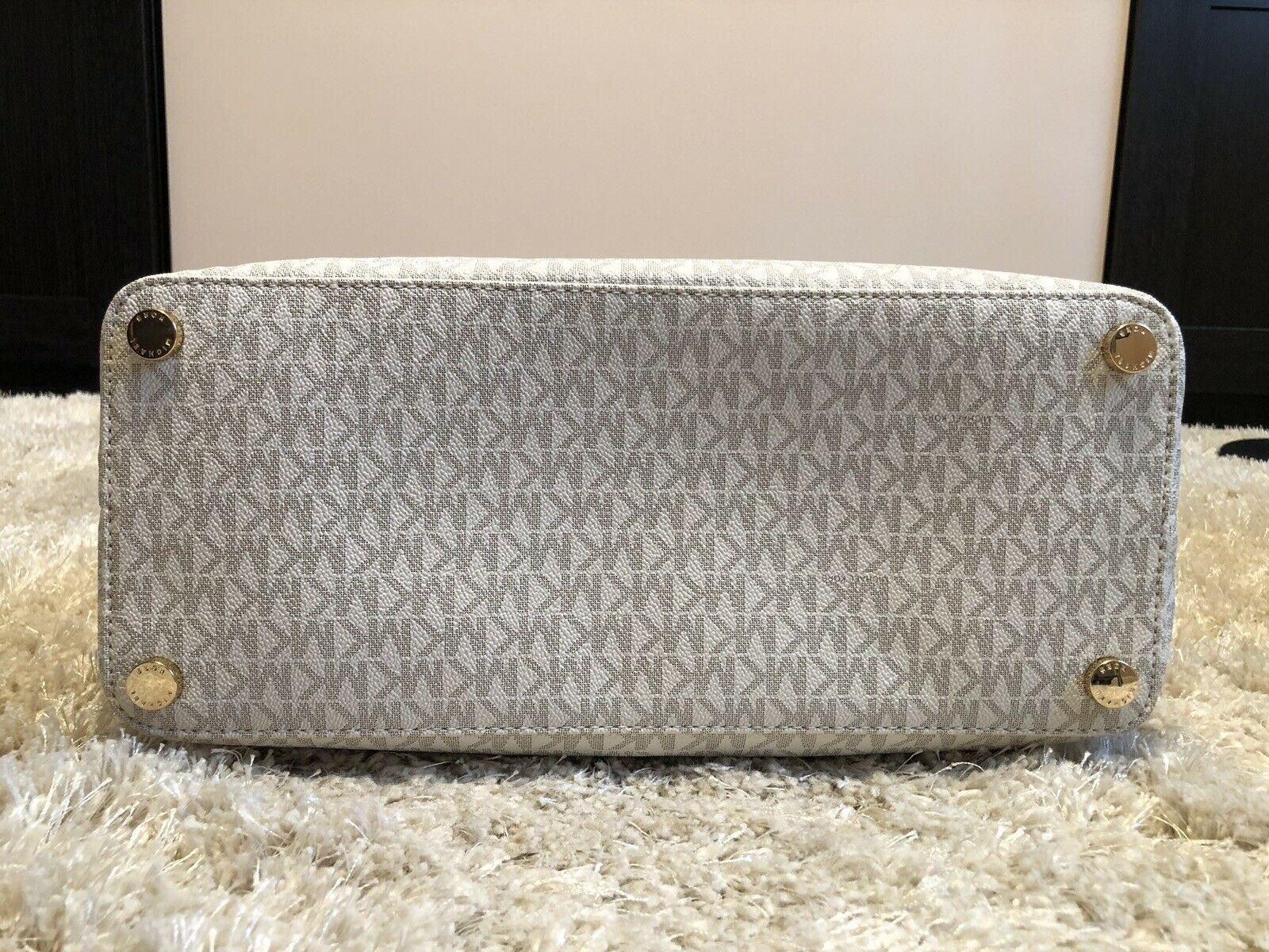 $248 NWT Michael Kors Morgan Large Tote Vanilla Handbag
