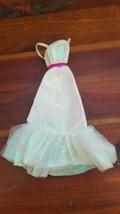 Mattel Barbie Doll Crystal Barbie 1983 #4598 Dress White Shimmery Pink Belt Wrap - $10.00