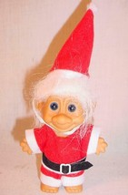 "VINTAGE 1990S 5"" RUSS CHRISTMAS SANTA CLAUS TROLL DOLL - $25.73"