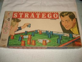 VINTAGE 1961 STRATEGO WAR BOARD GAME COMPLETE - $36.99