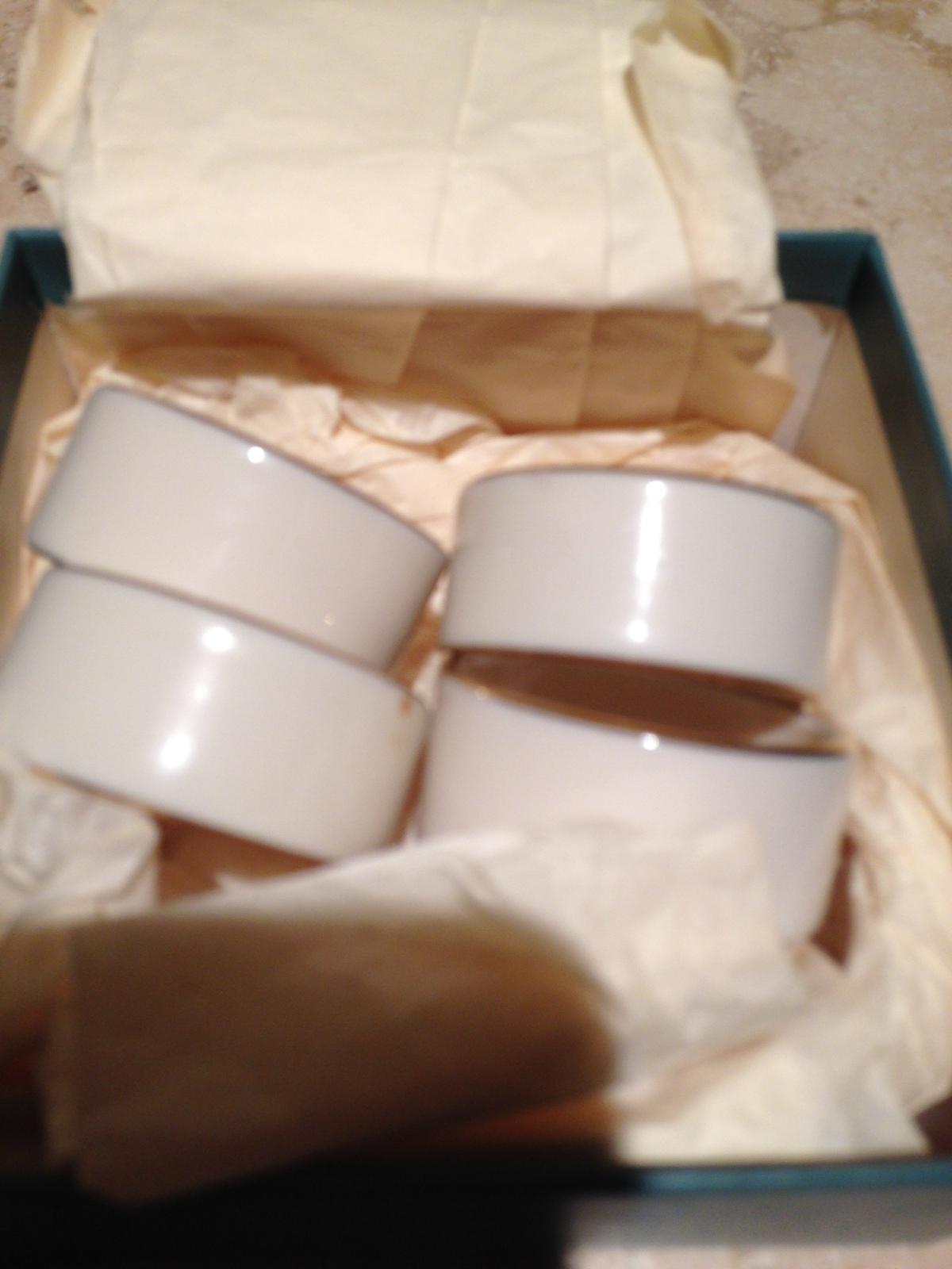 Lenox China set of 4 decorative napkin rings