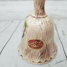 Vintage Owl in Tree Bell Treasure Craft USA Embossed Raised Wood Design  image 5