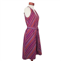A New Day Sleeveless Cotton Dress Purple  Stripes Multi sizes - $15.95