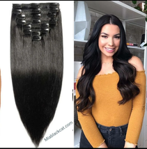 Human hair extensions Remy hair clip in - $130.00