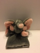 "Dakin Puppet Elephant Gray And Pink Plush Toy  Vintage 1985 12"" Hand Puppet - $9.49"