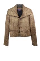 Brown Gold Ralph Lauren Collection Women Blazer Coat Jacket Sz 4 Made in USA image 2