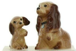 Hagen Renaker Miniature Dog Cocker Spaniel Mama and Pup Ceramic Figurine Set image 10