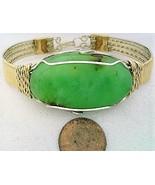 Chrysoprase Gold Filled Argentium Silver Wire Wrap Bracelet Sz. 8.5 - $65.01