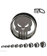 "PAIR-Punisher Marvel Comics Steel Single Flare Ear Tunnels 19mm/3/4"" Gau... - $15.99"