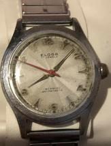 Vintage Eloga Swiss Incabloc 17 Jewel Unadjusted Military Style Mens Wri... - $48.95
