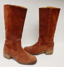 FRYE Women's Boots Leather Suede Western Biker Equestrian Fashion Russet... - $129.94