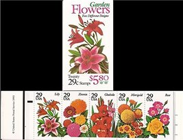 Garden Flowers 20 x 29c Stamp Booklet #BK215 - $10.99
