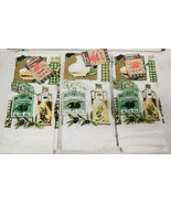 """SET OF 3 SAME PRINTED KITCHEN TOWELS (15""""x25"""")EXTRA VIRGIN OLIVE OIL & OLIVES,HS - $14.84"""