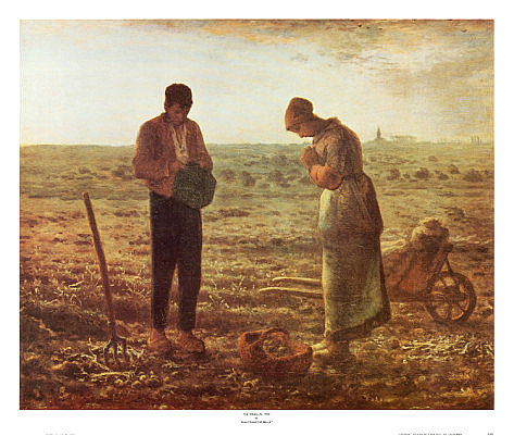 Primary image for The Angelus by Millet Poster 26 x 22 inch Andy Griffith Show Dali Van Gogh Art