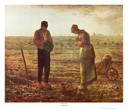 The Angelus by Millet Poster 28 x 22 inch Andy Griffith Show Dali Van Gogh Art   image 1