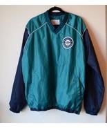 MLB Genuine Men Blue Seattle Mariners Windbreaker Water Repel Jacket Sid... - $44.55