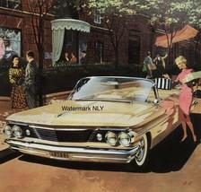 1960 Pontiac Bonneville Convertible Car Print Ad - $9.97