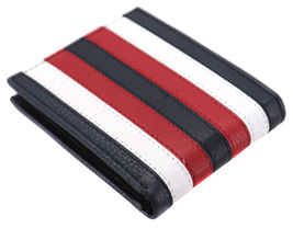 Tommy Hilfiger Men's Leather Wallet Passcase Billfold RFID Navy Red 31TL220104 image 7