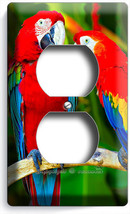 Tropical Forest Parrots Love Birds Duplex Outlet Wall Plate Cover Home Art Decor - $8.09