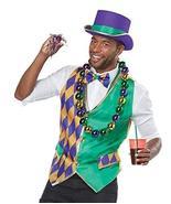 Mardi Gras Vest Adult Costume Kit S/M - $24.99