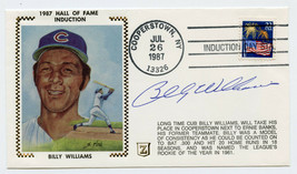 Billy Williams Signed Cachet 1987 Hall Of Fame Induction July FDC Cubs - $24.74