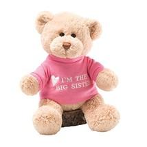 "GUND I'm the Big Sister T-Shirt Teddy Bear Stuffed Animal Plush, Pink, 12"" - $22.44"
