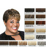 LUXHAIR Lux Hair by Sherri Shepherd Textured Pixie BOB Wig, Natural Black , - £30.34 GBP