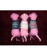 Victorias Segreto Rosa Cane Lot Of 3 Cani con T-Shirt Peluche - $17.22