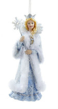Kurt S Adler Frosted Kingdom Snow Queen Ice Princess w/SMALL Crown Xmas Ornament - $12.88