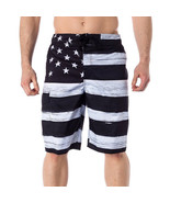 USA American Flag Men's Old Glory BLACK & WHITE Board Shorts (S-2XL) - $24.95+