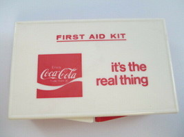 Coca-Cola Vintage First Aid Kit It's the Real Thing  - $27.23