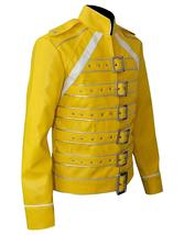 Freddie Jacket Tribute Concert Belted Motorcycle Yellow PU Leather Costume image 3
