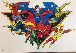 "Superman Green Arrow Firestorm Dr. Fate etc. (12"" x 18"") DC Comics color... - $19.79"