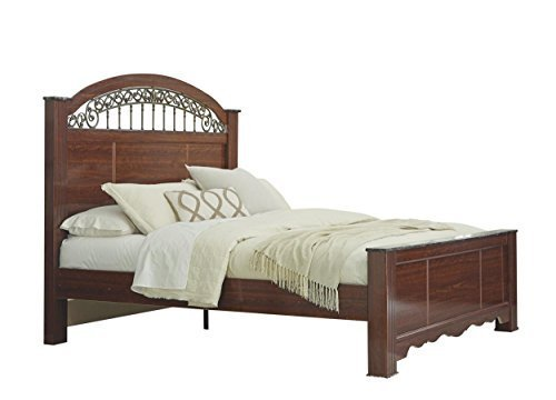Ashley Fairbrooks Estate Queen Poster Bed In Reddish Brown