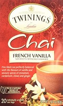 Twinings of London French Vanilla Chai Tea Bags 1.41 Ounces - 1 Box - $7.22