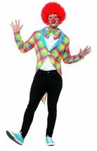 A Cuadros Payaso Frac , Disfraz de Circo, Grande - $34.81