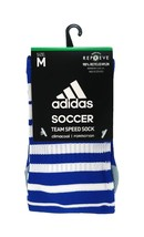 ADIDAS Climacool Soccer Team Speed Socks sz M Medium (5-8.5) Blue White - $18.99