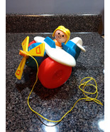 Vintage 1980 Fisher Price Airplane Plane ✈️ Pull Along Toy Toddler Child... - $10.00