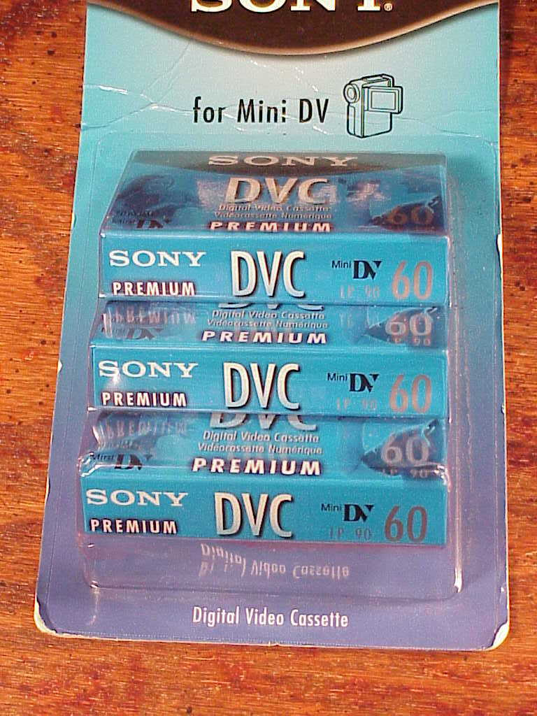 2 cassette video mini-dv PANASONIC DVC 60 min.Sp //90 min LP DVC CASSETTA NEW